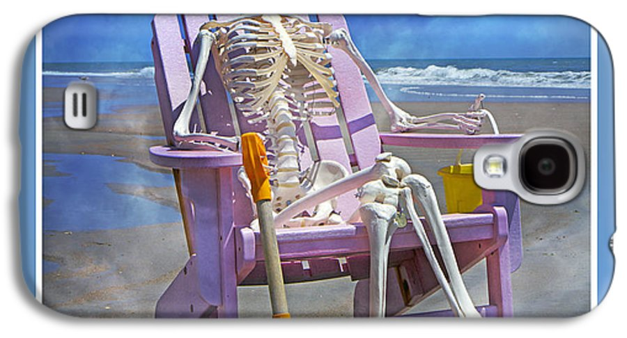 Skeleton Galaxy S4 Case featuring the photograph Sam Enjoys The Beach -- Again by Betsy Knapp