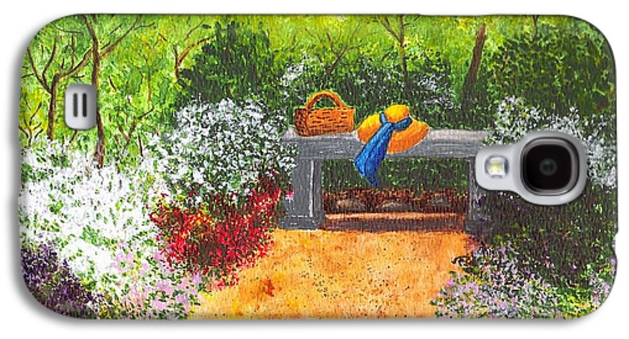 Garden Painting Galaxy S4 Case featuring the painting Sanctuary by Patricia Griffin Brett
