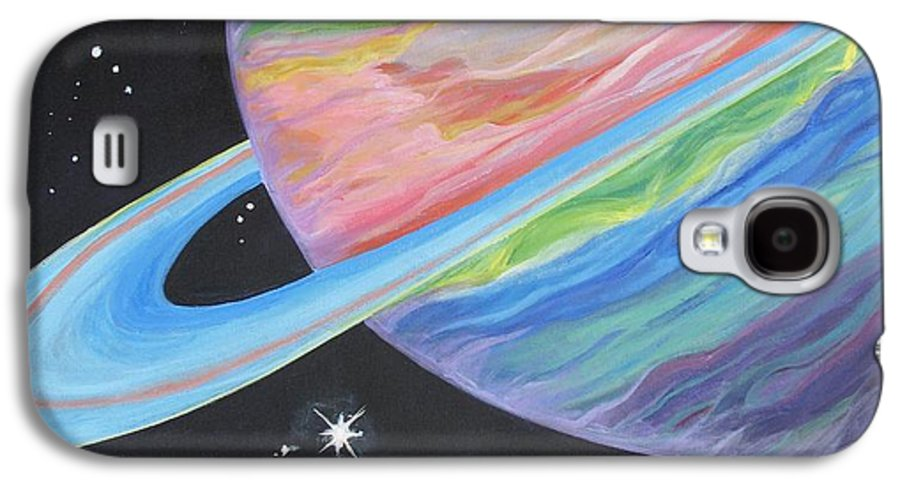 Saturn Galaxy S4 Case featuring the painting Saturn by Evie Giaconia
