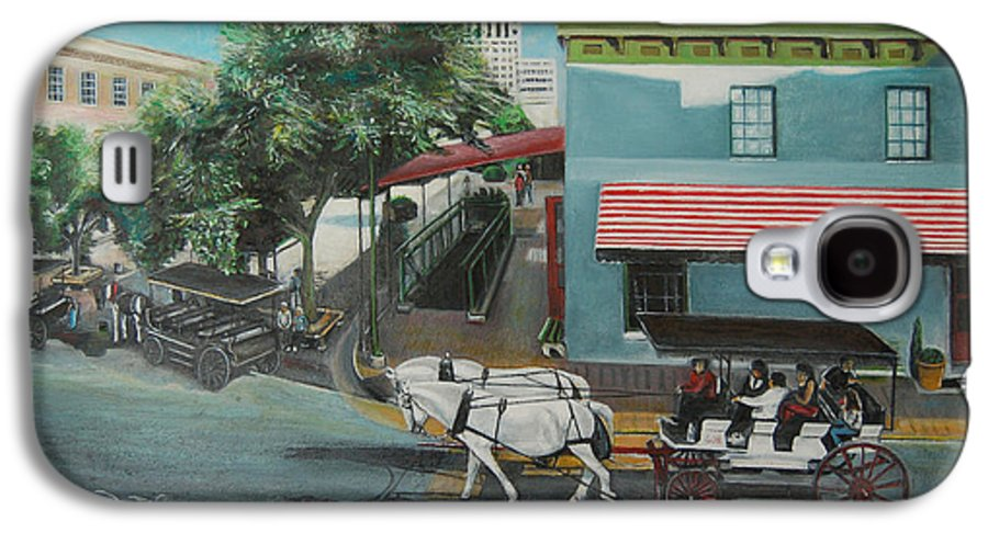 Galaxy S4 Case featuring the painting Savannah City Market by Jude Darrien