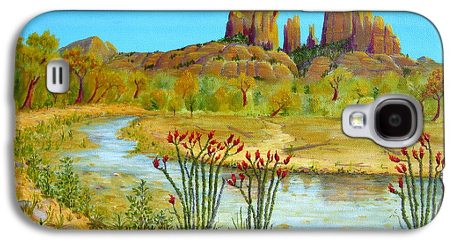 Sedona Galaxy S4 Case featuring the painting Sedona Arizona by Jerome Stumphauzer
