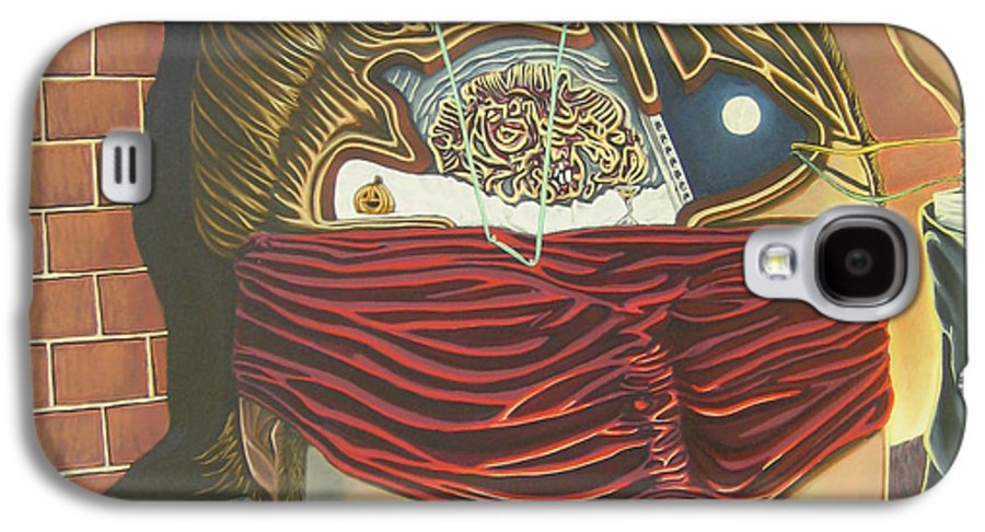 Self Portrait Galaxy S4 Case featuring the painting Subconcious Self Portrait by Mack Galixtar