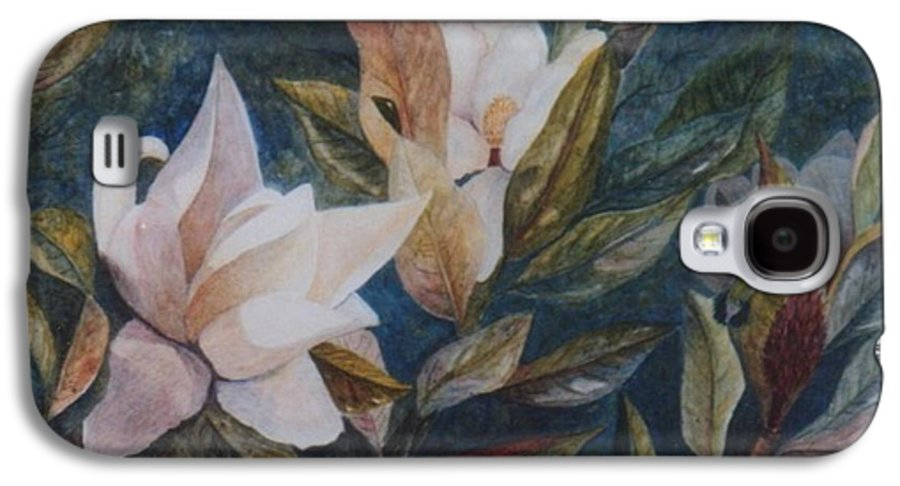 Magnolias; Humming Bird Galaxy S4 Case featuring the painting Serenity by Ben Kiger