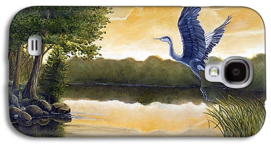 Rick Huotari Galaxy S4 Case featuring the painting Serenity by Rick Huotari