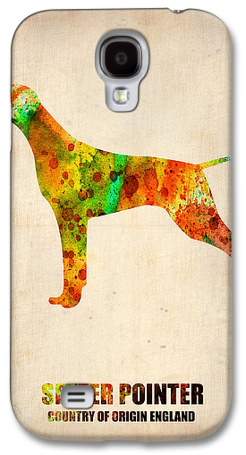 Setter Pointer Galaxy S4 Case featuring the painting Setter Pointer Poster by Naxart Studio