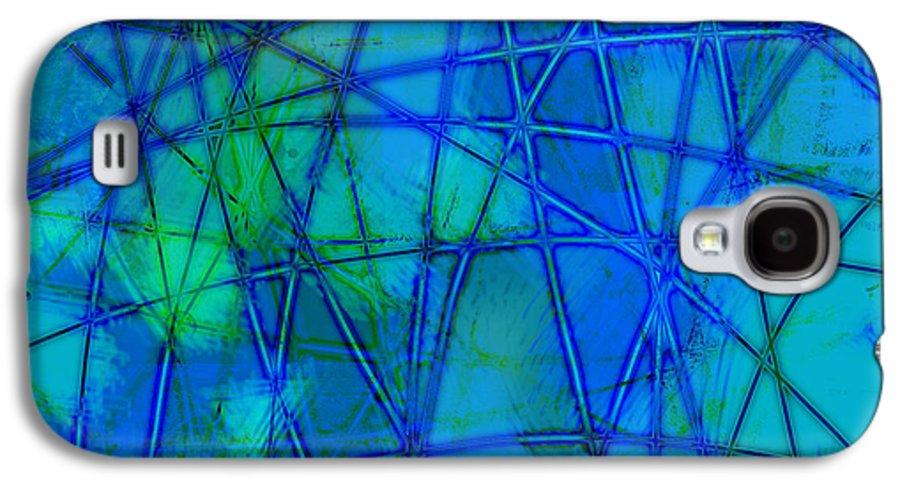 Blue Galaxy S4 Case featuring the digital art Shades Of Blue  by Ann Powell