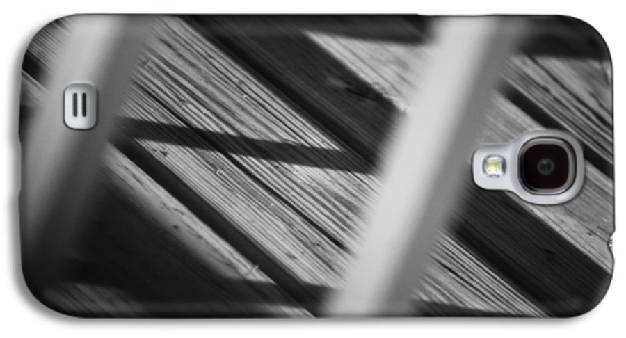 Abstract Galaxy S4 Case featuring the photograph Shadows Of Carpentry by Christi Kraft