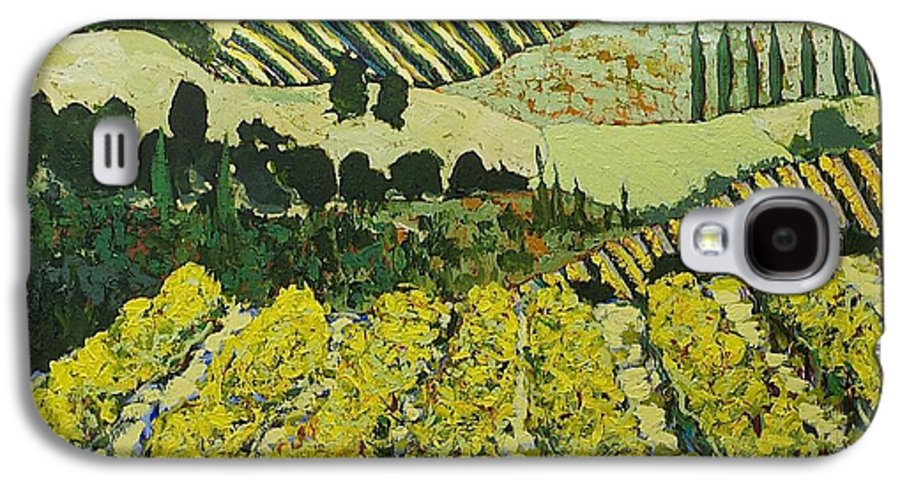 Landscape Galaxy S4 Case featuring the painting Sharing The Discovery by Allan P Friedlander