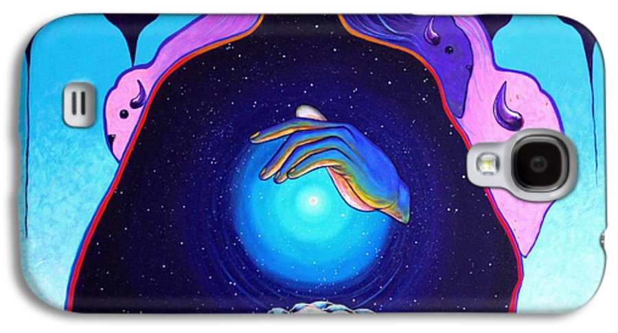 Spiritual Galaxy S4 Case featuring the painting She Carries The Spirit by Joe Triano