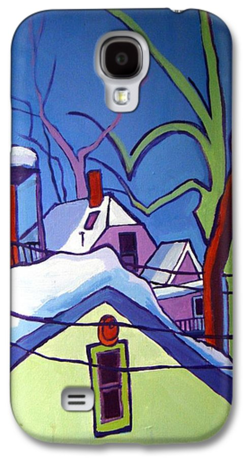 Buildings Galaxy S4 Case featuring the painting Sheffield Winter by Debra Bretton Robinson