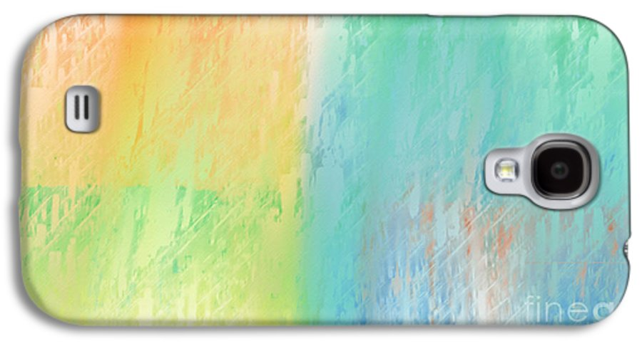 Abstract Galaxy S4 Case featuring the digital art Sherbet Abstract by Andee Design