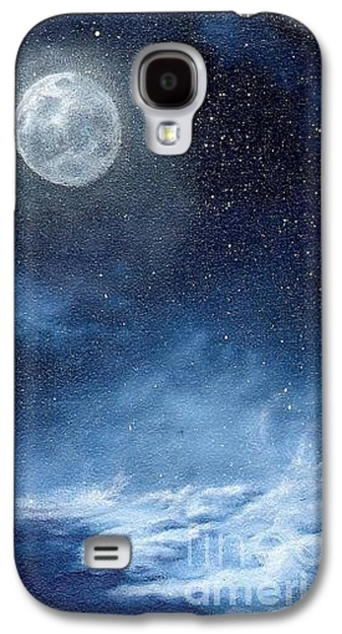 Cosmos Galaxy S4 Case featuring the painting Shimmer by Murphy Elliott