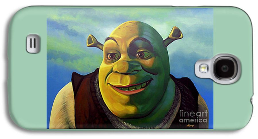 Shrek Galaxy S4 Case featuring the painting Shrek by Paul Meijering