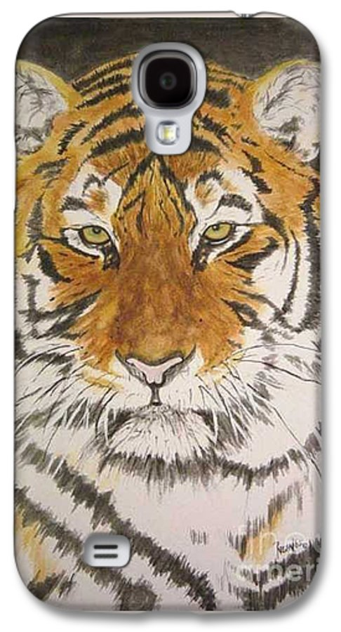 Siberian Tiger Galaxy S4 Case featuring the painting Siberian Tiger by Regan J Smith
