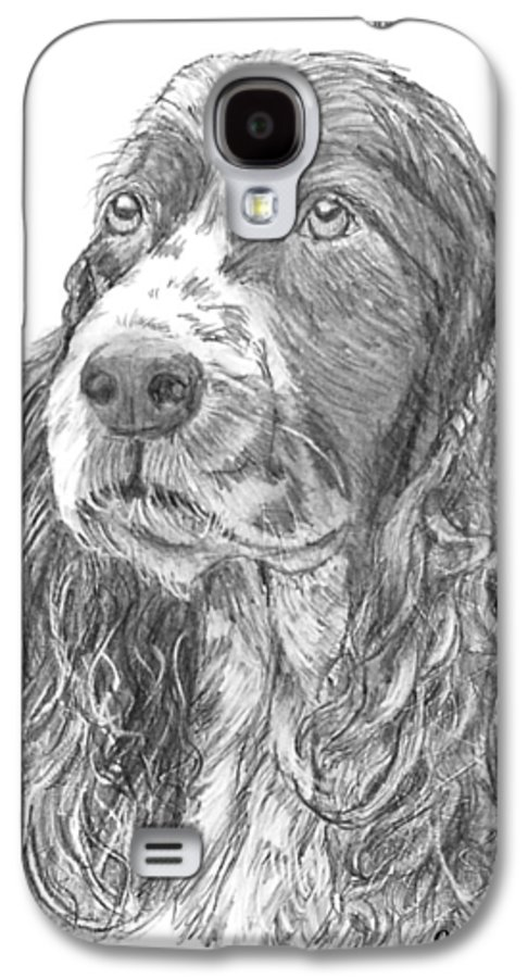 Dog Galaxy S4 Case featuring the drawing Sibley by Quwatha Valentine