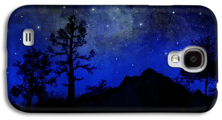 Sierra Silhouette Galaxy S4 Case featuring the painting Sierra Silhouette Wall Mural by Frank Wilson