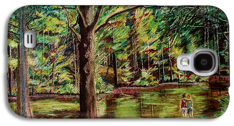 New Hampshire Galaxy S4 Case featuring the pastel Sisters At Wason Pond by Sean Connolly