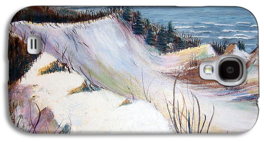Snow Galaxy S4 Case featuring the painting Snow On The Dunes by Art Nomad Sandra Hansen