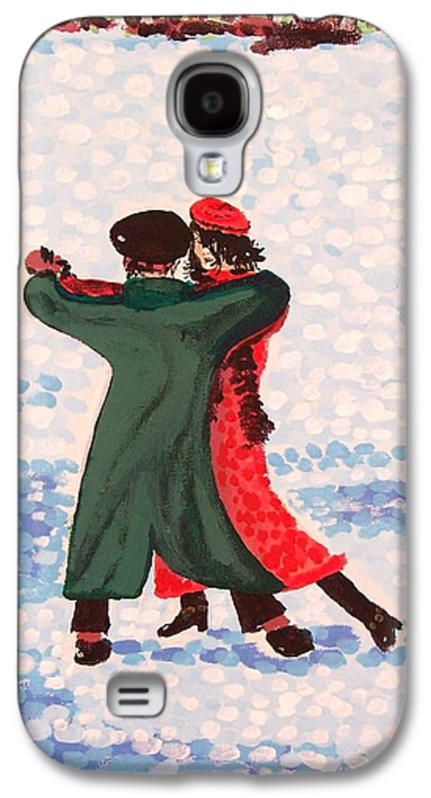 Snow Galaxy S4 Case featuring the painting Snow Tango by Alan Hogan