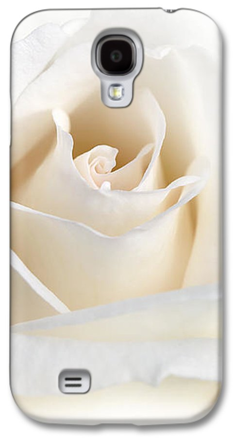 Rose Galaxy S4 Case featuring the photograph Soft Ivory Rose Flower by Jennie Marie Schell