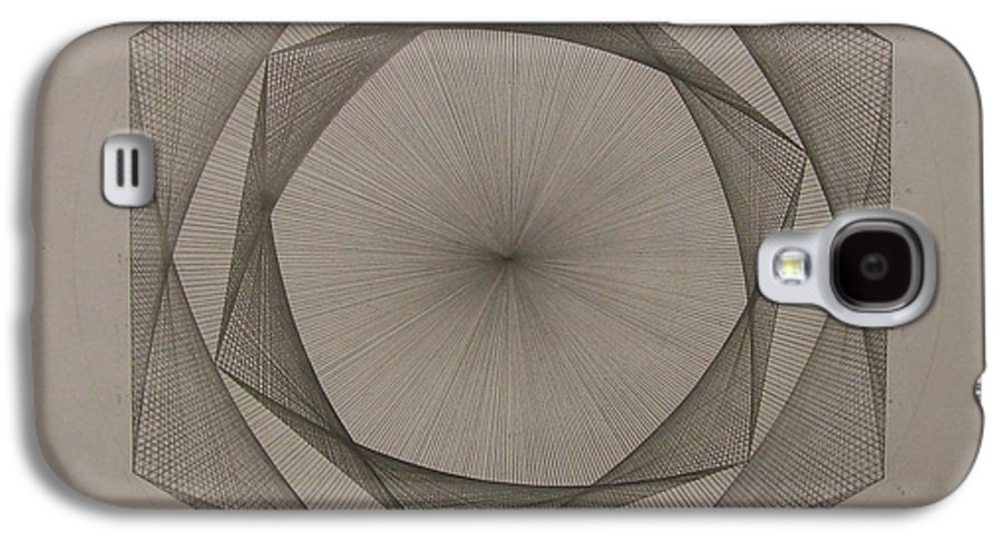 Fractal Galaxy S4 Case featuring the drawing Solar Spiraling by Jason Padgett