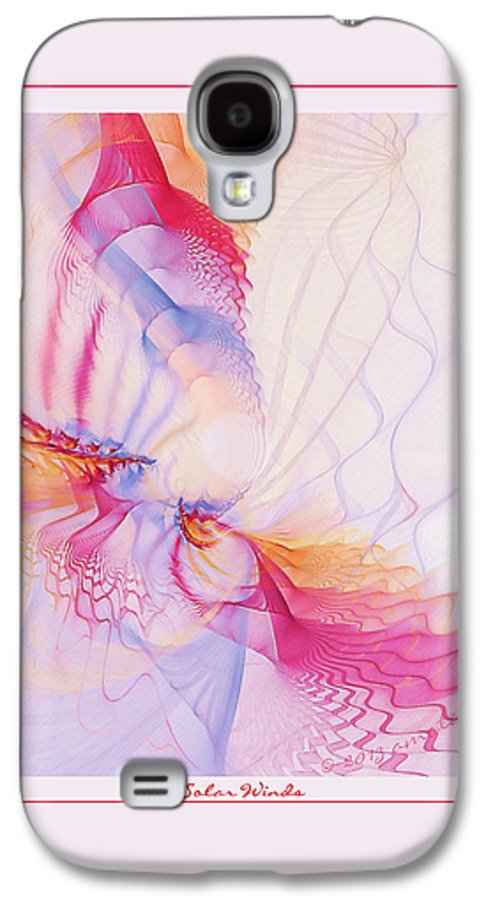 Fractal Galaxy S4 Case featuring the digital art Solar Winds by Gayle Odsather