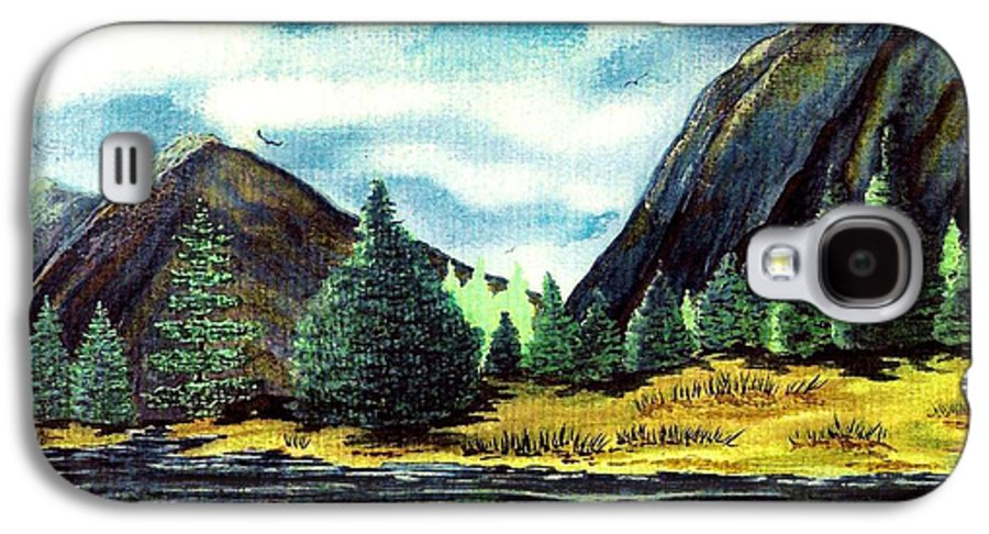 Fine Art Galaxy S4 Case featuring the painting Solitude by Patricia Griffin Brett