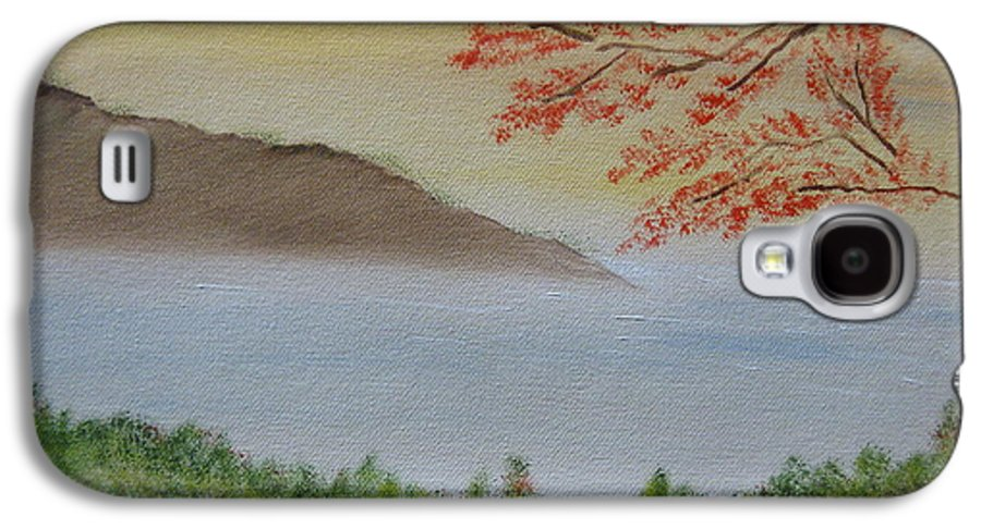 Landscape Galaxy S4 Case featuring the painting Some Alone Time by Sayali Mahajan