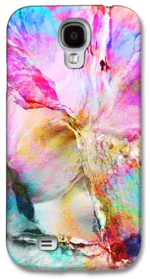 Large Abstract Galaxy S4 Case featuring the painting Somebody's Smiling - Abstract Art by Jaison Cianelli