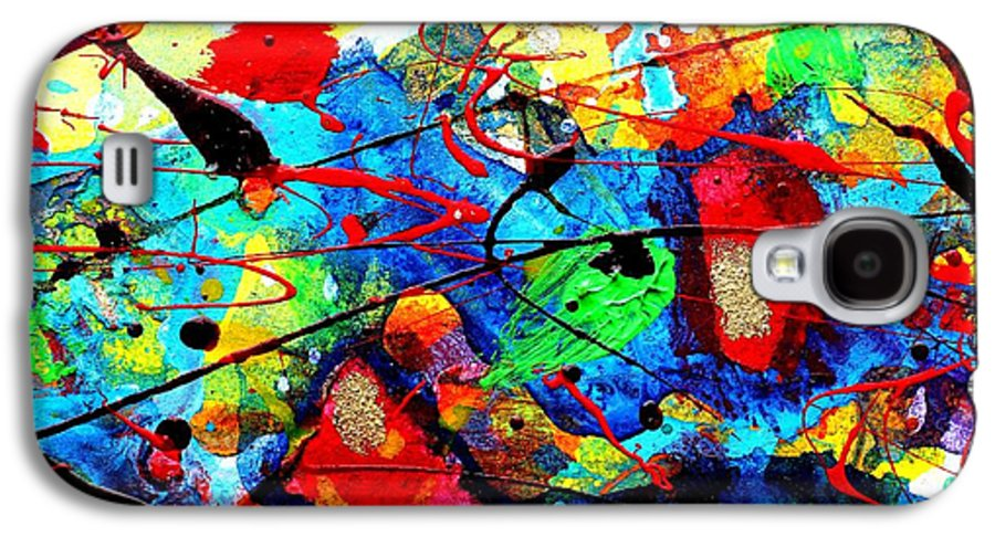 Abstract Landscape Galaxy S4 Case featuring the mixed media Somewhere Over The Rainbow by John Nolan