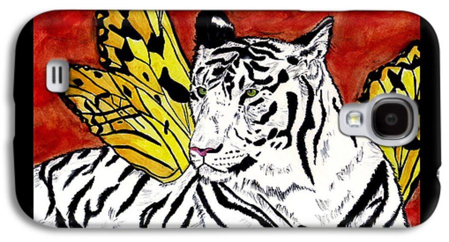 Tiger Galaxy S4 Case featuring the painting Soul Rhapsody by Crystal Hubbard