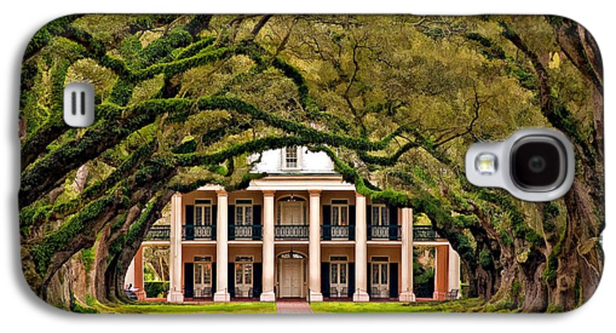 Oak Alley Plantation Galaxy S4 Case featuring the photograph Southern Class Painted by Steve Harrington