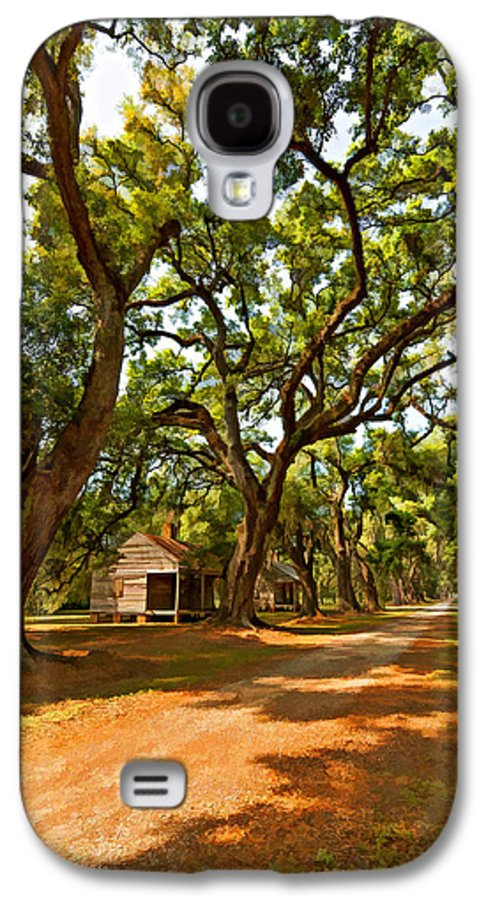 Evergreen Plantation Galaxy S4 Case featuring the photograph Southern Lane Paint Filter by Steve Harrington