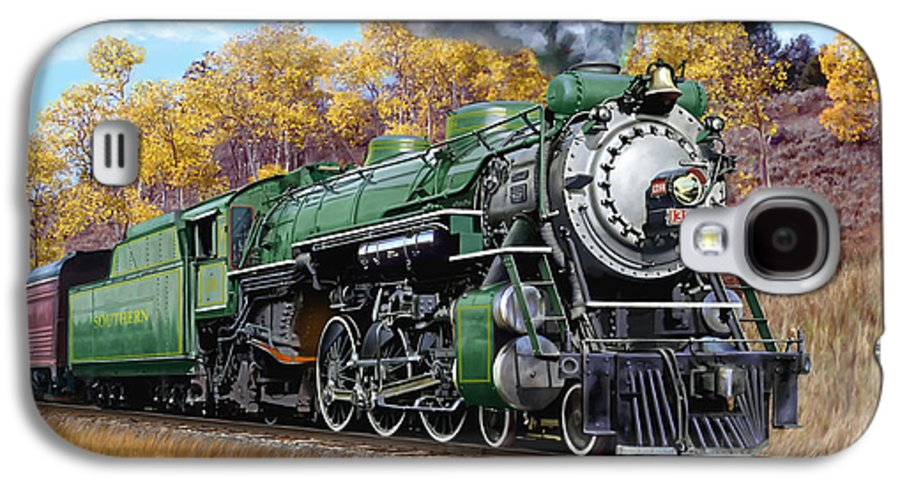 Railraod Galaxy S4 Case featuring the painting Southern Railway Class Ps-4 Pacific by Mark Karvon