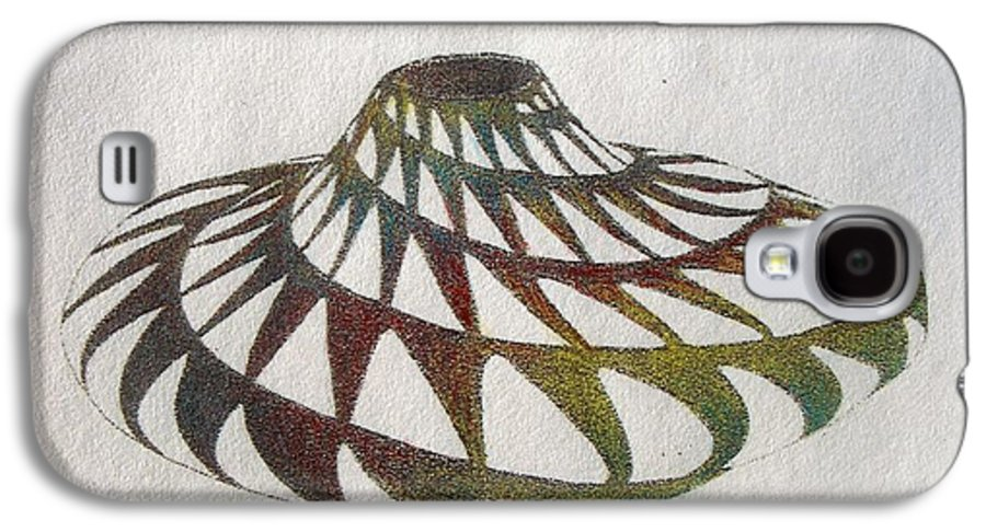 Pottery Southwest Rainbow American Indian Desert Galaxy S4 Case featuring the painting Southwest II by Tony Ruggiero
