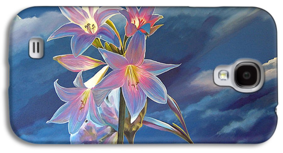 Botanical Galaxy S4 Case featuring the painting Spellbound by Hunter Jay