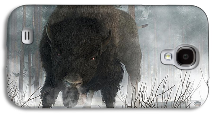 Bison Galaxy S4 Case featuring the digital art Spirit Of Winter by Daniel Eskridge