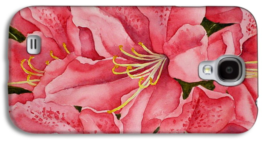 Watercolor Galaxy S4 Case featuring the painting Spring Azalea by Darla Brock