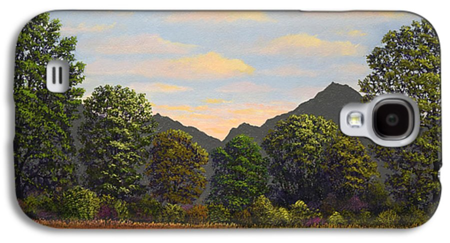 Spring Meadow At Sutter Buttes Galaxy S4 Case featuring the painting Spring Meadow At Sutter Buttes by Frank Wilson