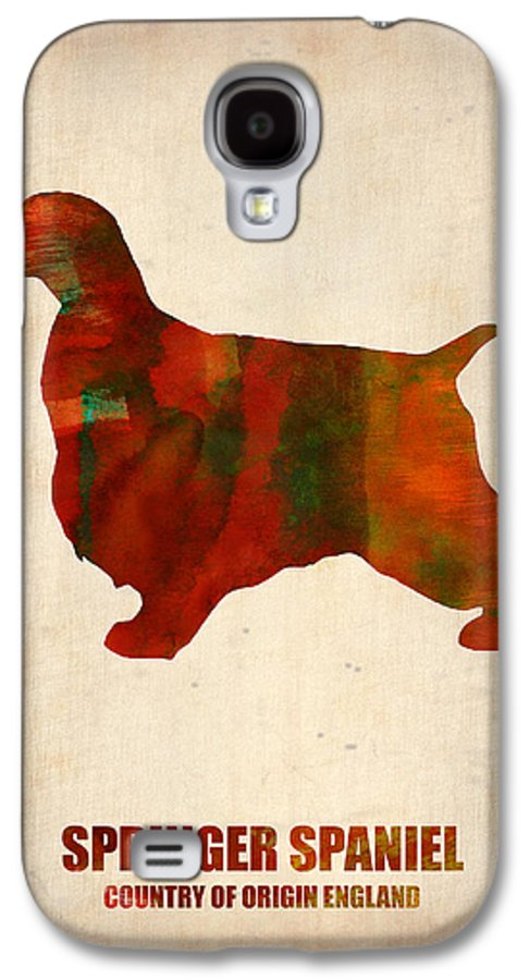 Springer Spaniel Galaxy S4 Case featuring the painting Springer Spaniel Poster by Naxart Studio