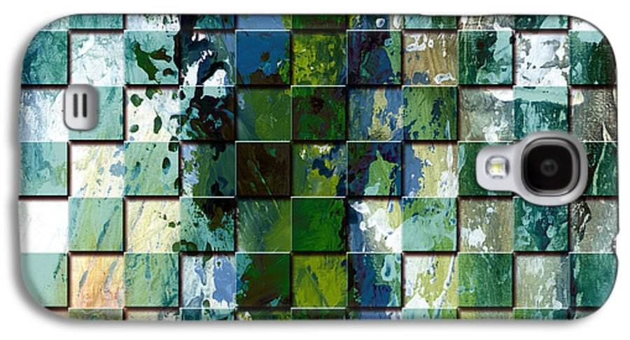 Digital Art Galaxy S4 Case featuring the digital art Square Mania - Abstract 01 by Emerico Imre Toth