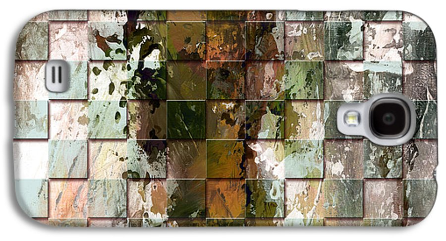 Abstract Galaxy S4 Case featuring the painting Square Mania - Abstract 09 by Emerico Imre Toth