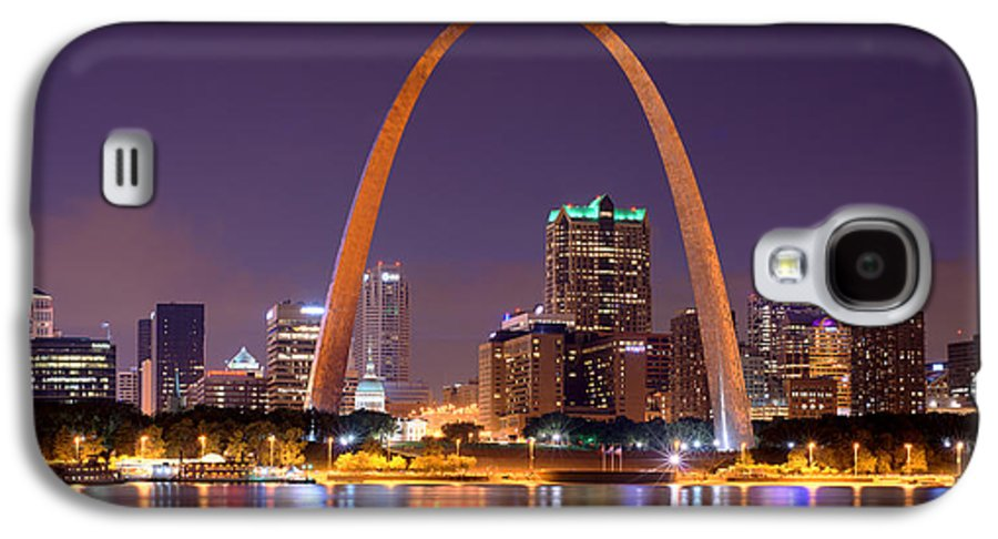 Panoramic Pictures Galaxy S6: St. Louis Skyline At Night Gateway Arch Color Panorama