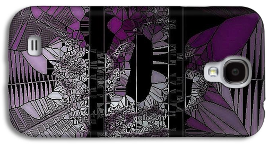 Girl Galaxy S4 Case featuring the digital art Stain Glass by HollyWood Creation By linda zanini