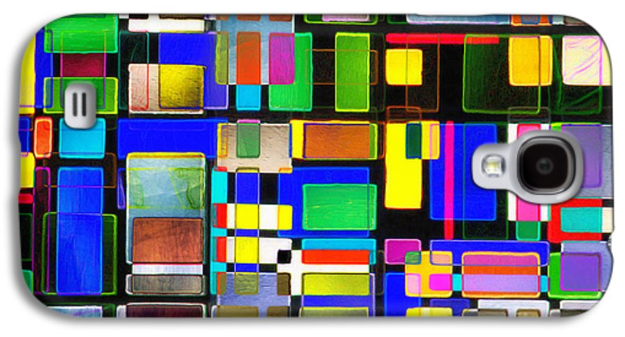 Abstracts Galaxy S4 Case featuring the photograph Stained Glass Window II Multi-coloured Abstract by Natalie Kinnear