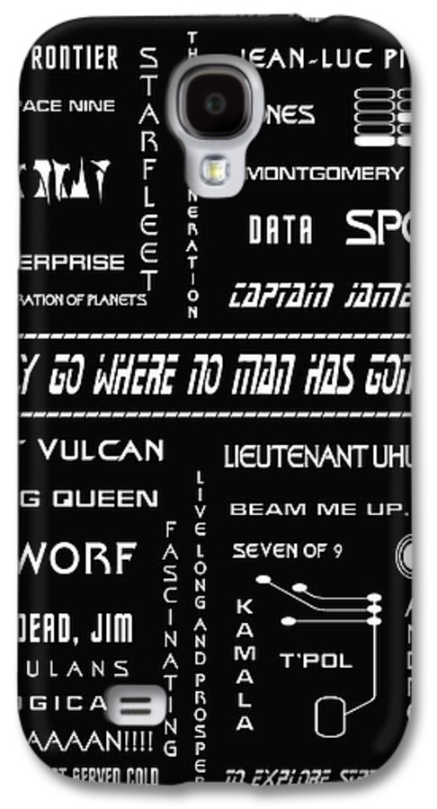 Star Trek Galaxy S4 Case featuring the digital art Star Trek Remembered by Georgia Fowler