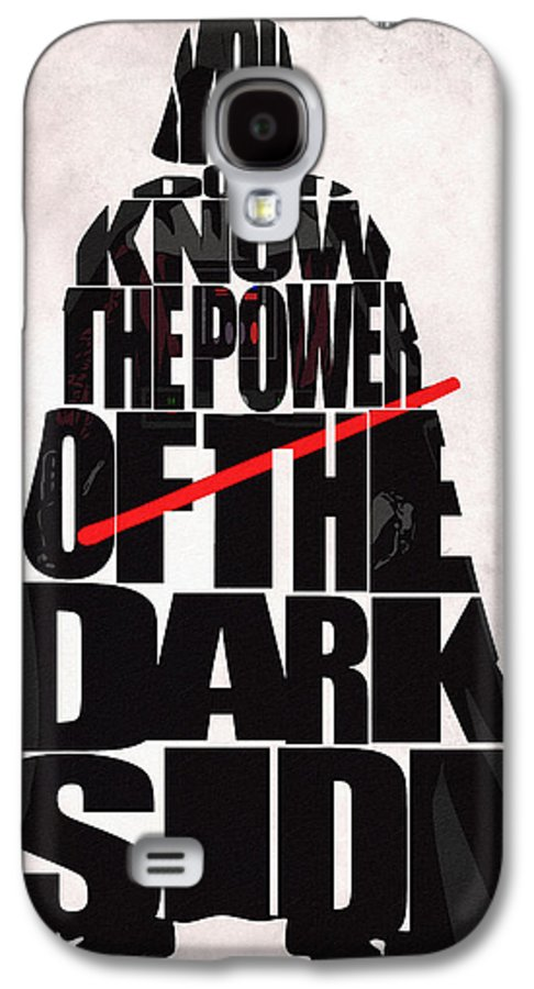 Darth Vader Galaxy S4 Case featuring the drawing Star Wars Inspired Darth Vader Artwork by Ayse Deniz