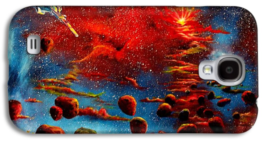 Nova Galaxy S4 Case featuring the painting Starberry Nova Alien Excape by Murphy Elliott