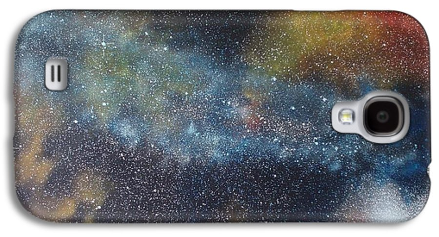 Space;stars;starry;nebula;spiral;galaxy;star Cluster;celestial;cosmos;universe;orgasm Galaxy S4 Case featuring the painting Stargasm by Sean Connolly