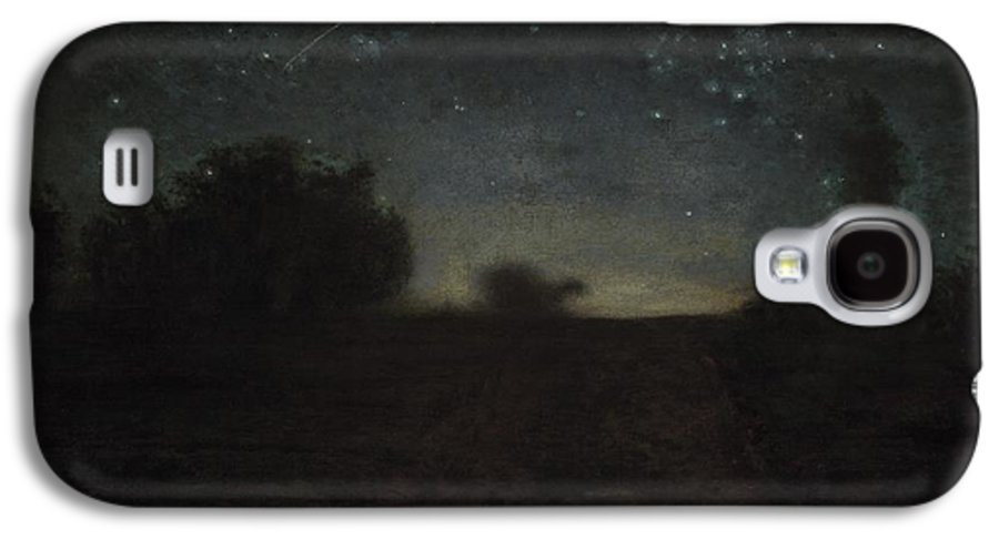 Black Galaxy S4 Case featuring the painting Starry Night by Jean-Francois Millet